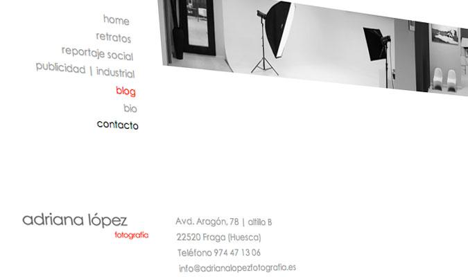 Adriana López Fotografia Web Contacte