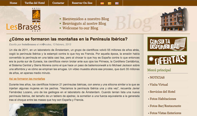 Hotel Les Brases Blog