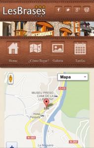 Hotel Brases Web Mòbil Localització