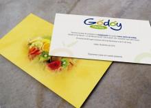 Frutas Godoy Tarjetó Invitació Inauguració