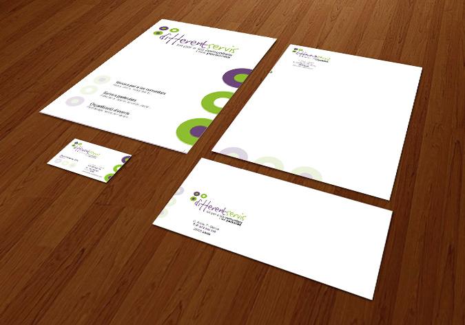 Papereria Corporativa: Carpeta A3+, paper de carta, tarja i sobre comercial