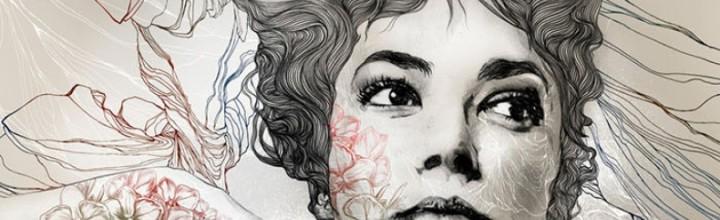 Il·lustració de retrats femenins amb patrons