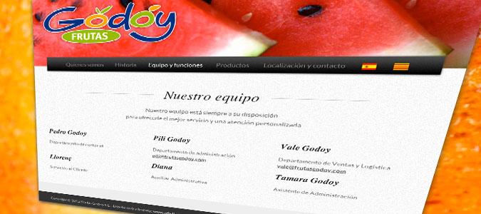 Frutas Godoy Pantalla Equipo
