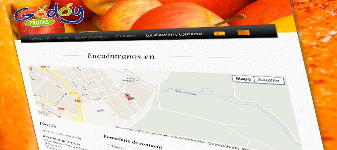 Frutas Godoy Pantalla Localización