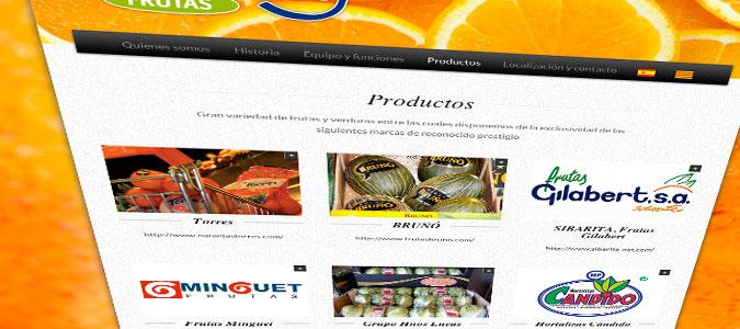 Frutas Godoy Pantalla Productos
