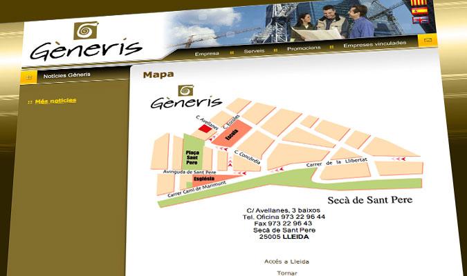 Generis Lleida Mapa